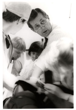 Archive photo of Dr. Donald (Don) Trunkey with other surgeons