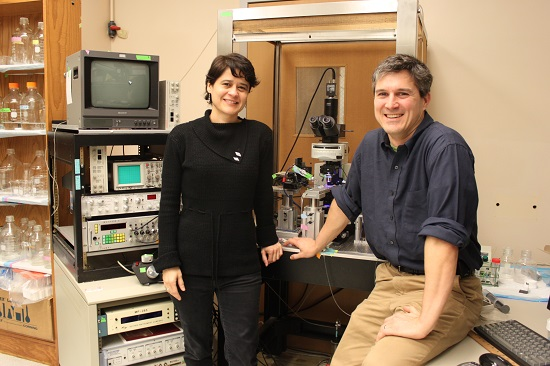Dr. Eric Schnell (right) with Dr. Laura Villasana
