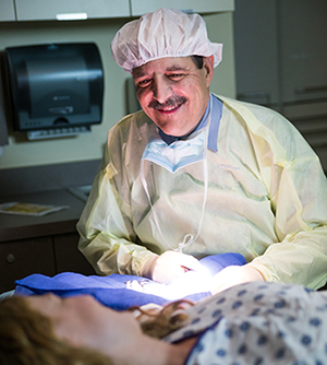 John Vetto is a cancer surgeon who leads the Department of Surgery's skin cancer program.