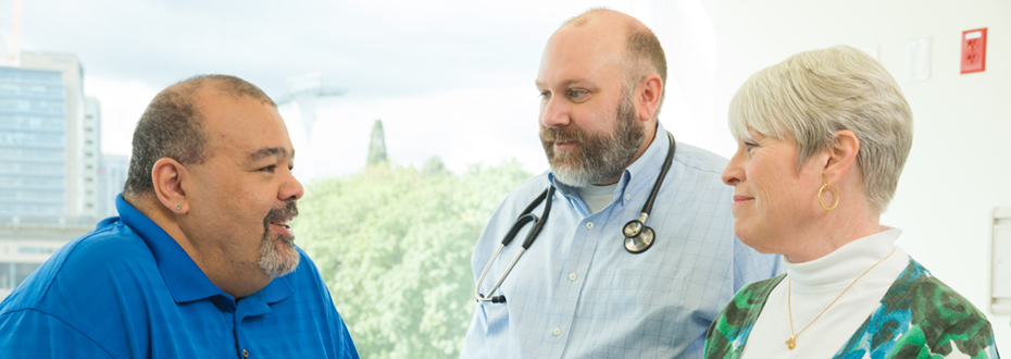 OHSU Palliative Care Team discuss options with an OHSU patient