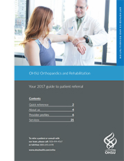 Cover image of Ortho Patient Referral guide - doctor with patient
