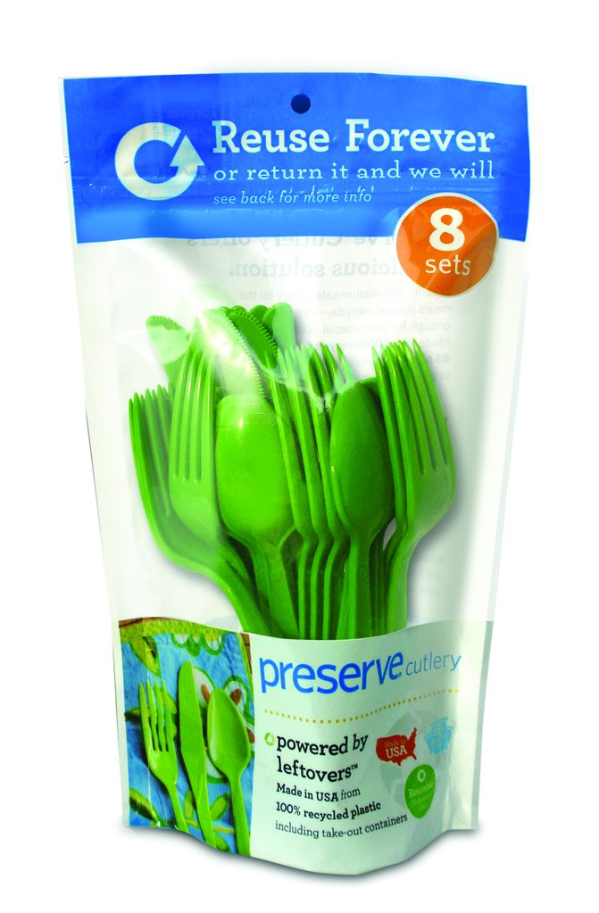 package of recyclable and reusable utensils
