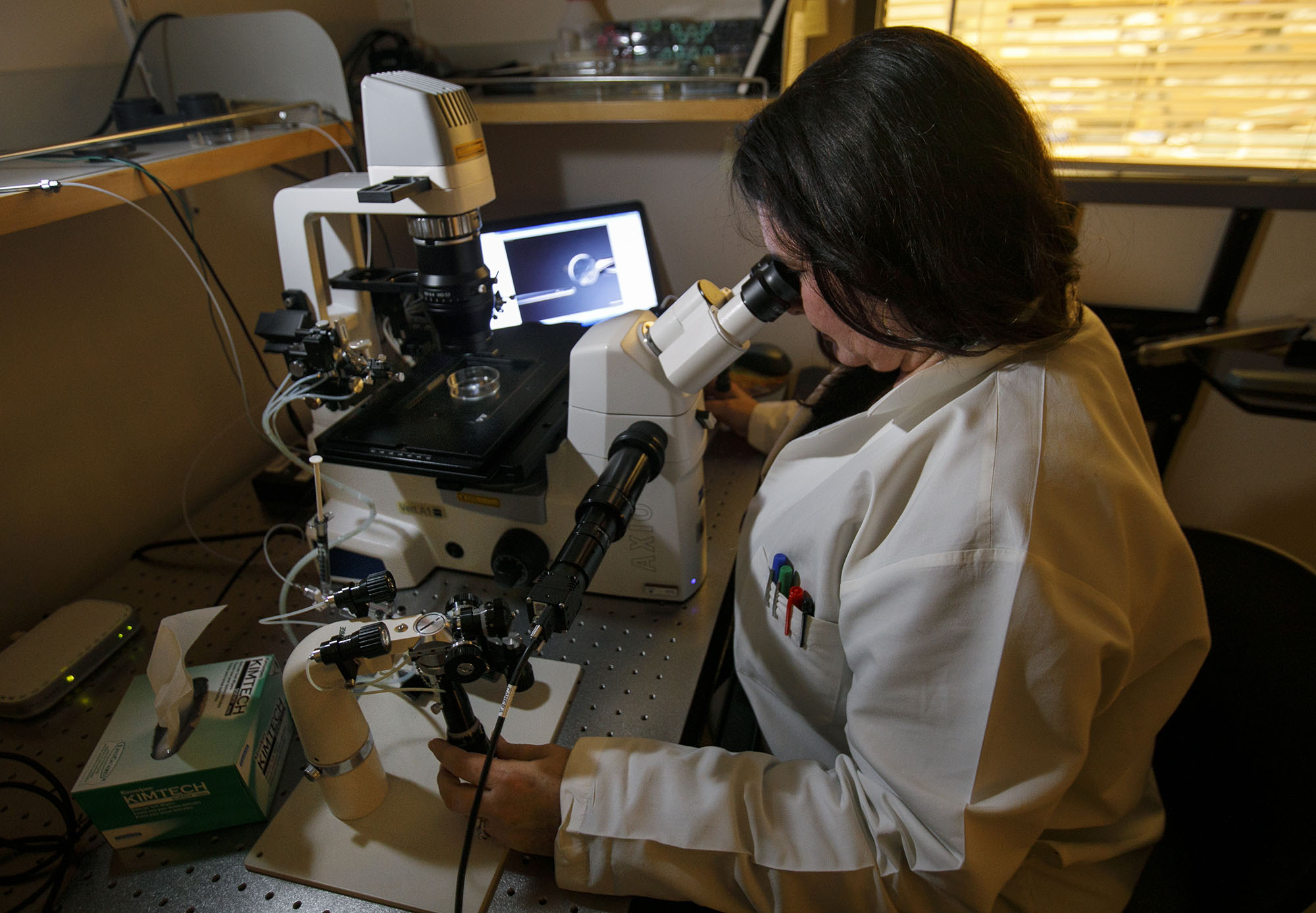 researcher in lab