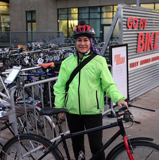 bike valet on south waterfront