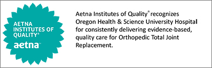 Aetna Institutes of Quality badge for OHSU Joint Replacement