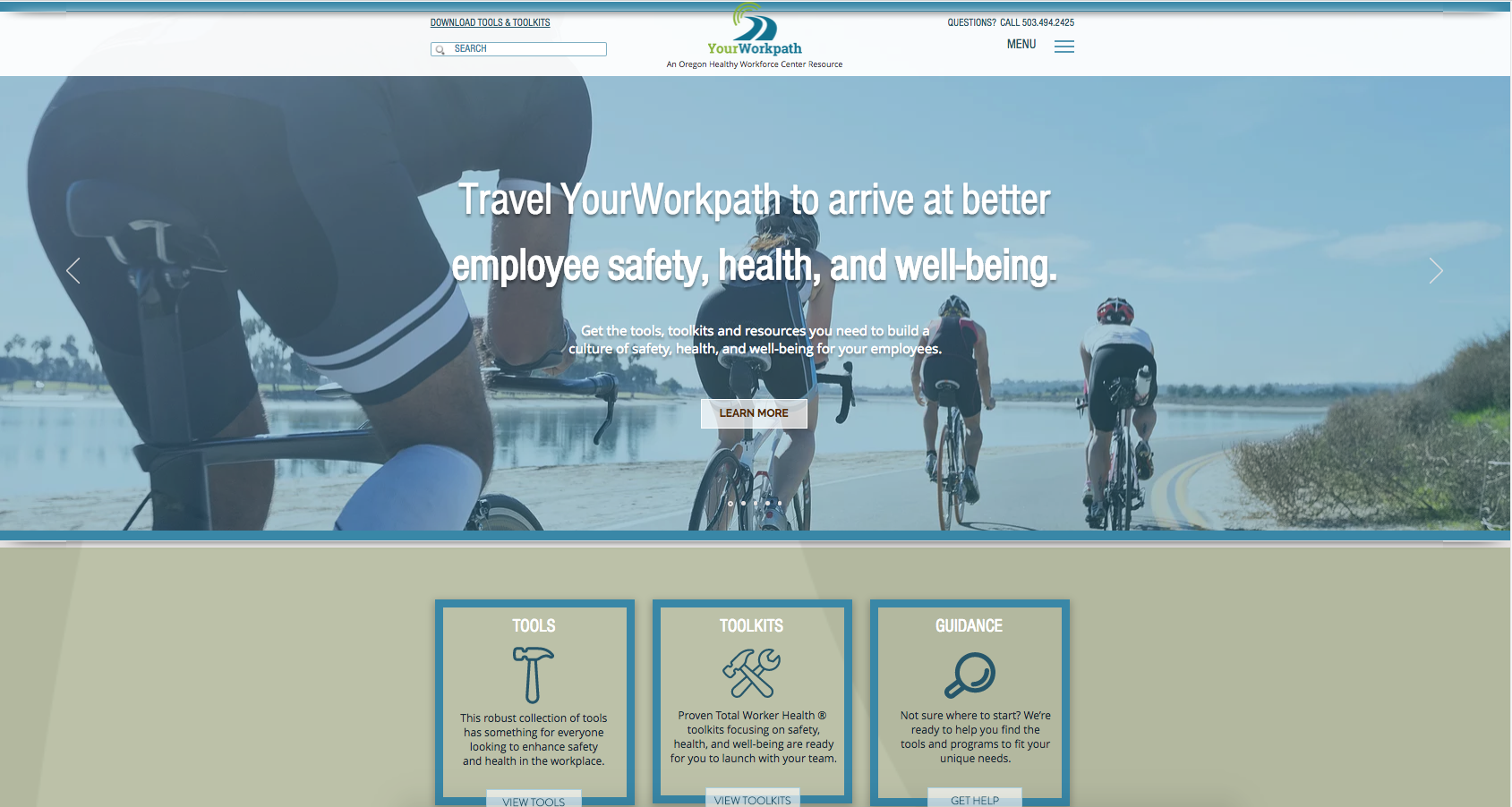 YourWorkpath.com, an Oregon Health Workforce Center resource on workplace safety, health and well-being tools and toolkits