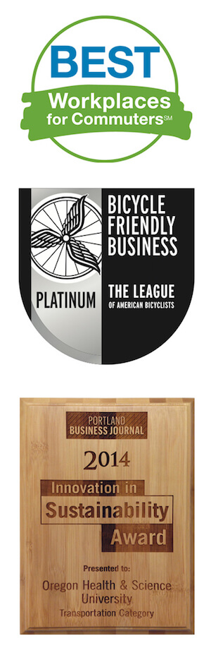 Transportation and Parking award badges