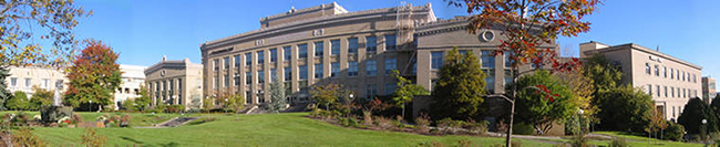 panorama of OHSU buildings