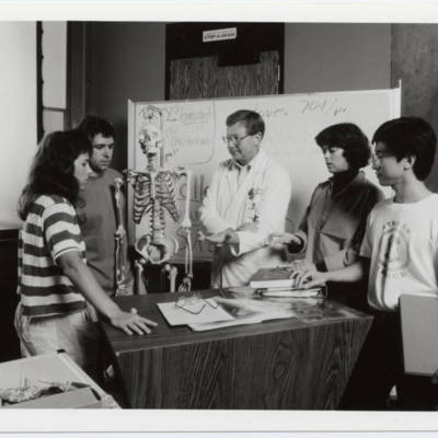 Reid S. Connell, Ph.D. with students, circa 1980s