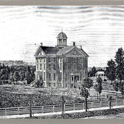 Willamette University Medical Department, circa 1867