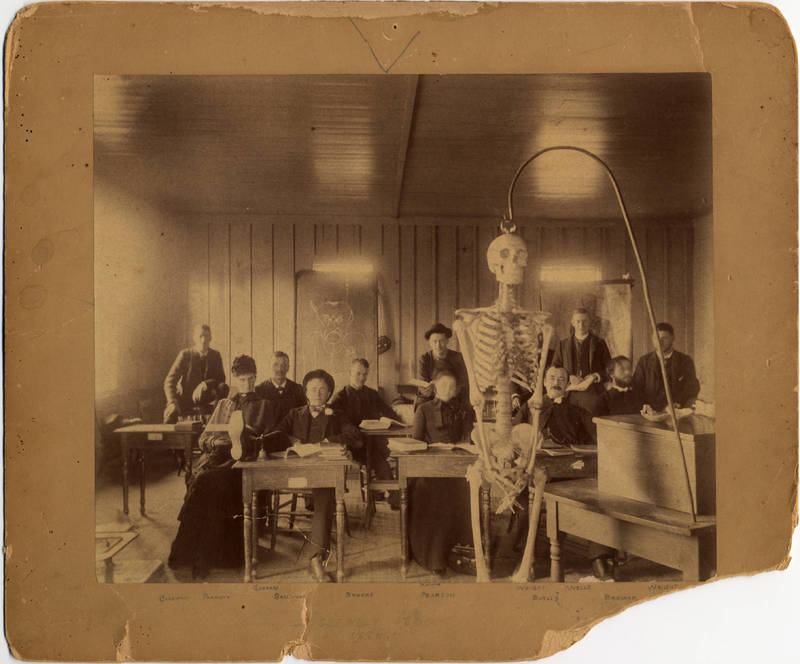Assembly room at the Willamette University Medical Department, circa 1886