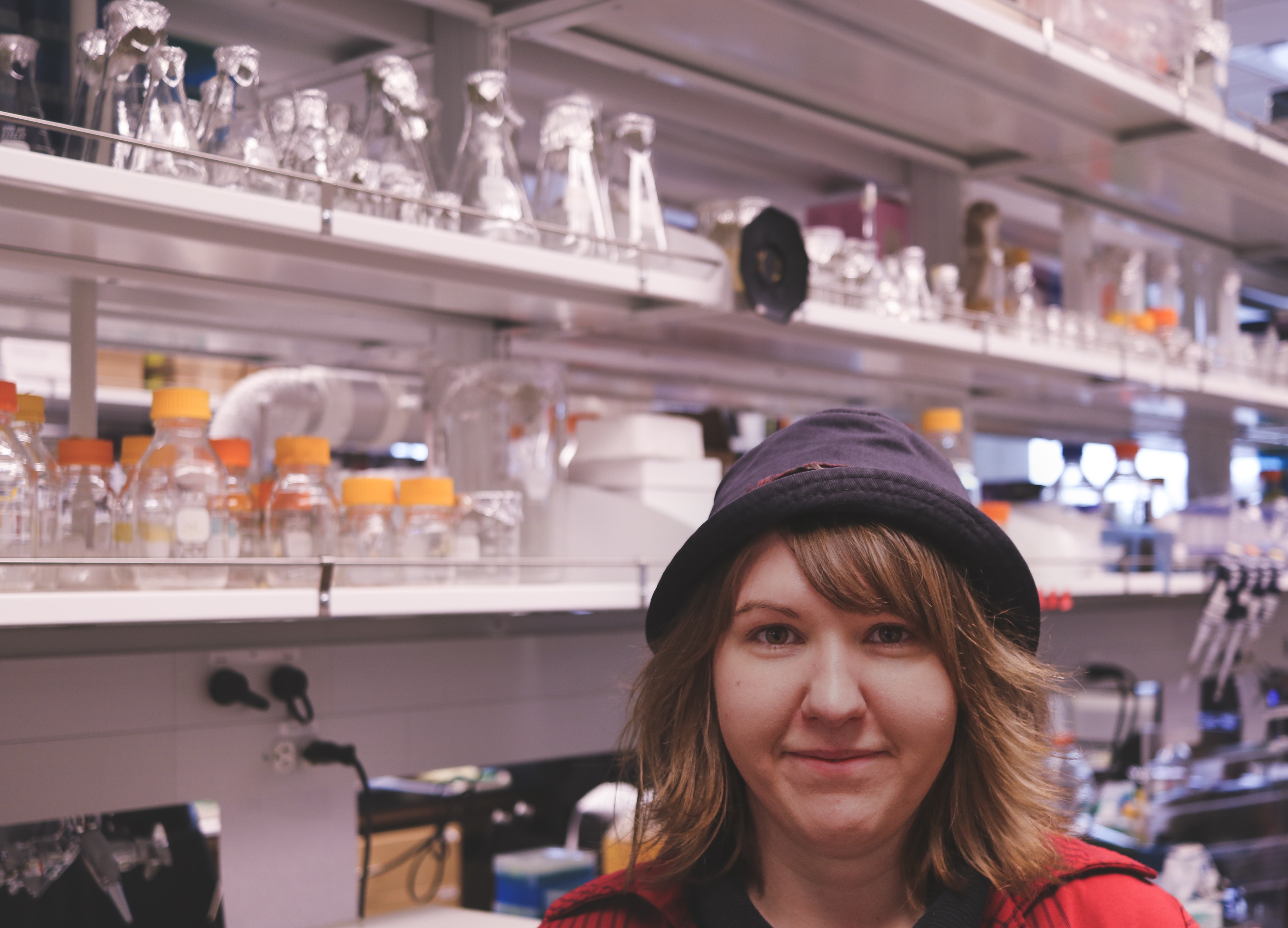 Brittany Gratreak, BS Research Assistant II (lab manager) in the Ellison Lab, 2018