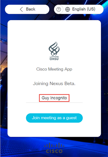 Join from Nexus invite