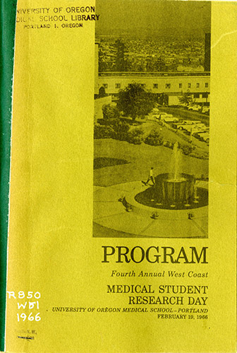 Cover of the program for 1966 Medical Student Research Day