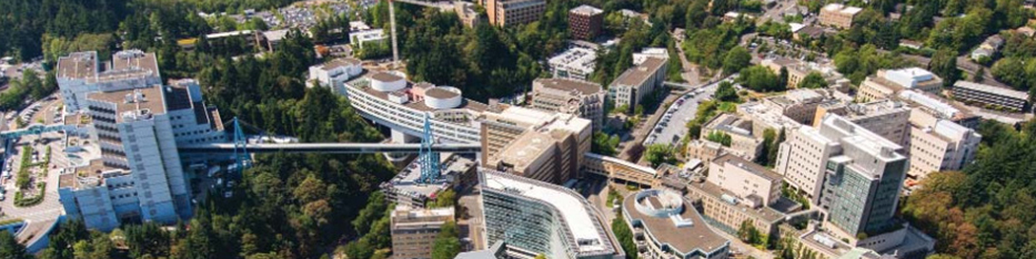 aerial view of the Portland Campus and OHSU