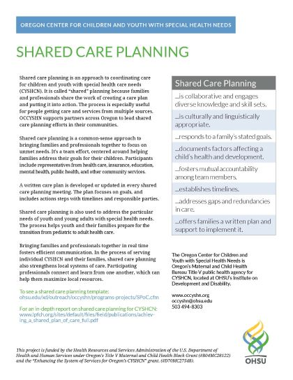 shared care planning overview