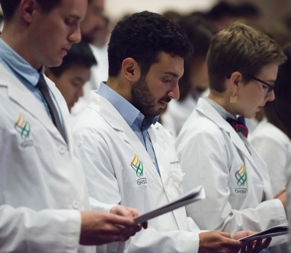 Medical Students at the SOM White Coat Ceremony