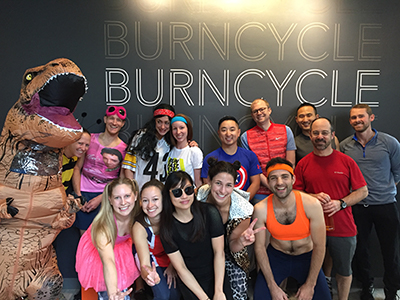Residents and faculty at Burncycle