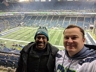 Residents at Seahawk game