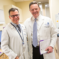 Drs. Garzotto and Amling, urology experts at OHSU