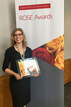 Shelly Boelter received a Golden Rose Award