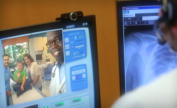 Doctors connect with family over telemedicine