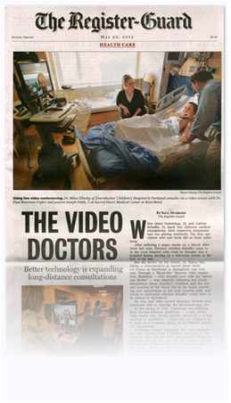 Telemedicine in the News - The Register Guard Front Page