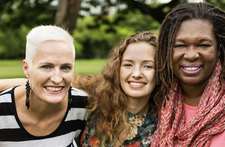Multicultural and multigenerational group of women