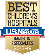 US News Best Children's Hospitals 2018-19:Ranked in 7 Specialties