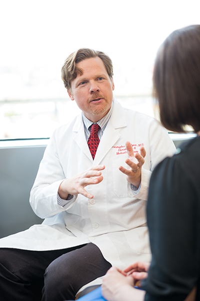 Dr. Christopher Ryan is a medical oncologist who specializes in treating sarcomas.