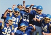 Youth Football Team Cheering