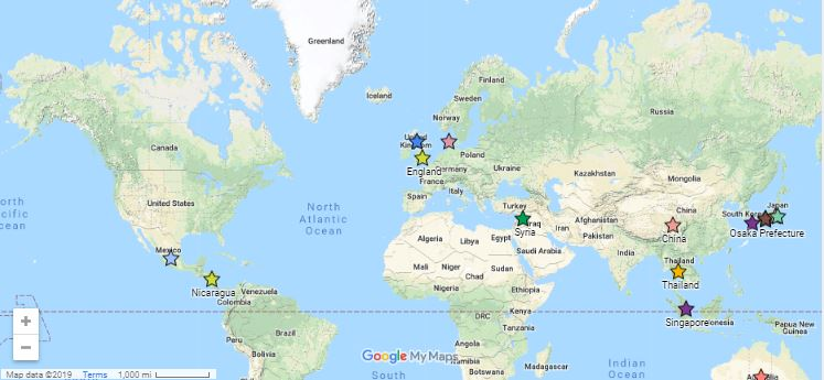 Map of the SON global partnerships
