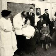 People in OHSU clinic at the turn of the century