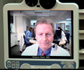 Stroke doctor on telemedicine screen