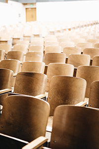 Chairs in the auditorium