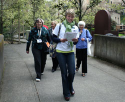 Students walking at OHSU