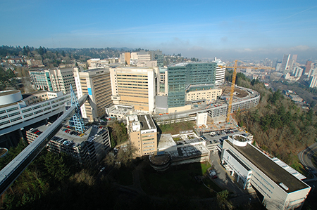 Aerial view of the Marquam Hill Campus