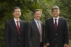 From right to left Drs. Chiang, Wilson and Lauer