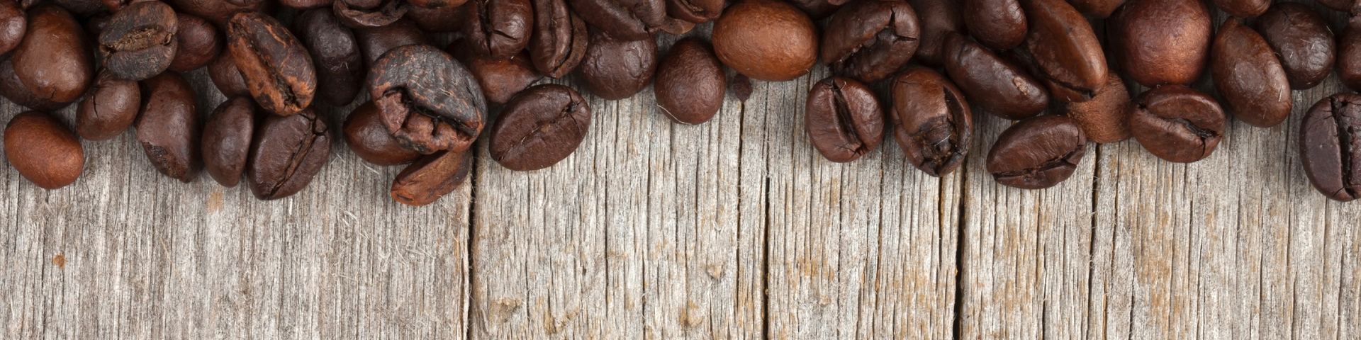 Espresso beans on wood
