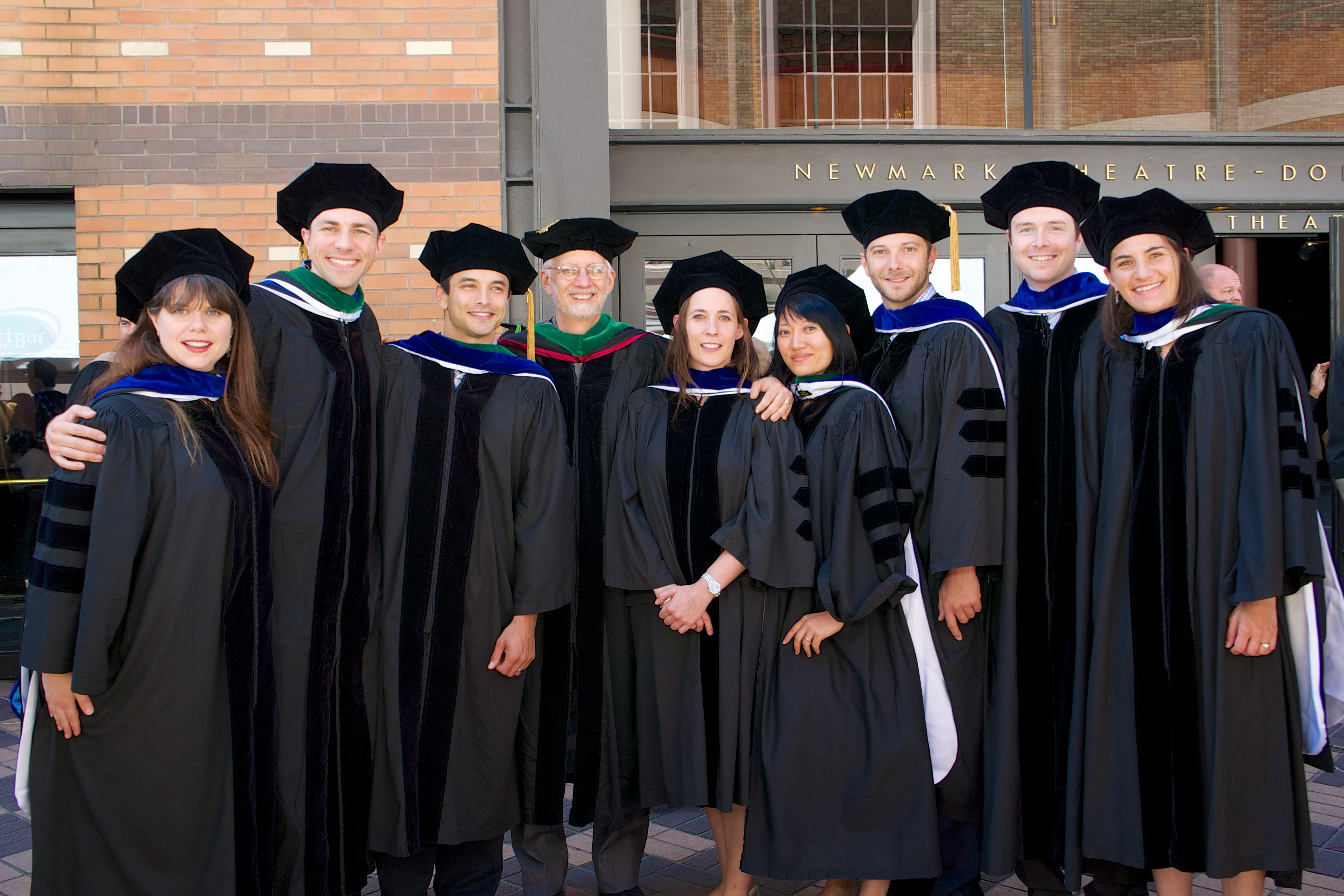 2013 MD/PhD graduates with Dr. Jacoby