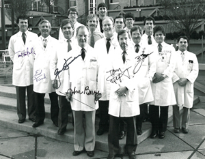 Dr. John Barry and the OHSU provider staff pose for a team photo