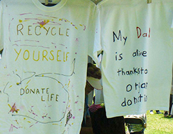 T-shirts that talk about donating yourself