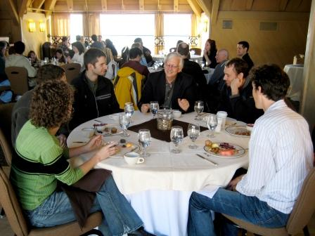 Dr. Jacoby with students at the MD/PhD annual retreat 2009