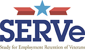 The Study for Employment Retention of Veterans (SERVe) was funded by the Department of Defense and active from 2013 to 2018. The research project was designed to make a positive difference in the lives of Oregon Veterans and current Service Members by improving their experiences in their civilian workplaces