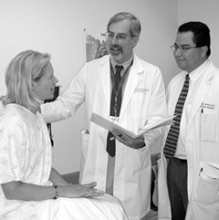 Dr. John Kaufman, interventional radiologist, talks about IVC filter placement with a Dotter Institute patient.