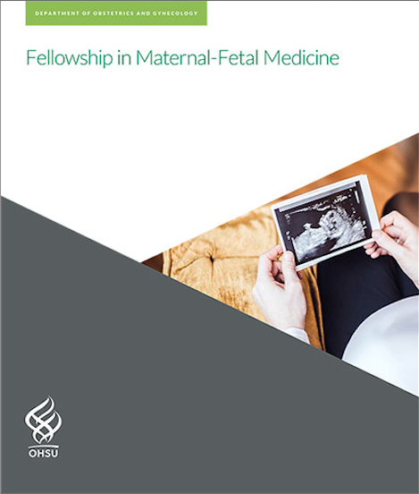 Image of the OHSU Maternal-Fetal Medicine Fellowship brochure's front cover.