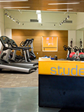 OHSU Student Center wellness room cardio equipment