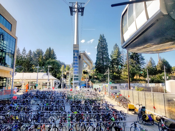 Tram and bike valet