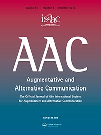 Front cover of the Augmentative and Alternative Communication (AAC) Journal.