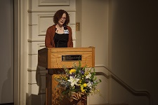Radiation Therapy student speaks at the 2015 Body Donation Program memorial service